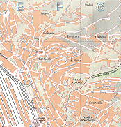 Moreri, Roiano, S. Ermacora, Cordaroli, S. Pietro, Vetta di Scorcola, Molini,Stacione Centrale, Verniellis, Scorcola Trieste City Map Italy