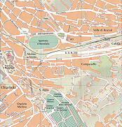 Ippodromo di Montebello, Molino a Vento, Chiarbola, Ospizio Marino, S. Anna, Valle di Rozzol, Callia, Campanelle Trieste City Map Italy